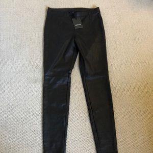 Trouve faux leather moto leggings.